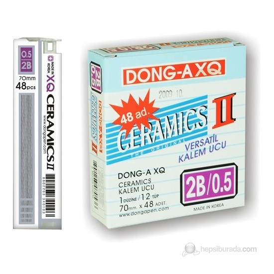 Dong-A Ceramics 60mm x 0,5mm 2B Min Kalem Ucu 12'Li