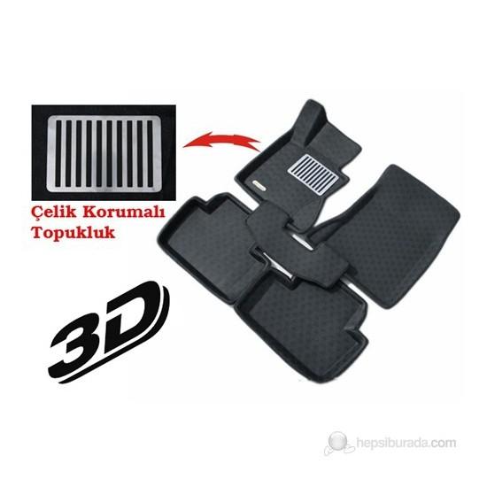Toyota Yaris 2007/2011 (3D Havuzlu) Metal Topuklu Paspas Seti