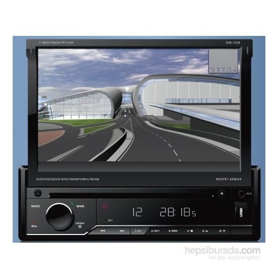 Xetec Dın1238 Navigasyonlu ındash dokunmatik Tv/usb/mp3/dvx/dvd/sd/radyo/ Bluetooth çıkartılabilir ö