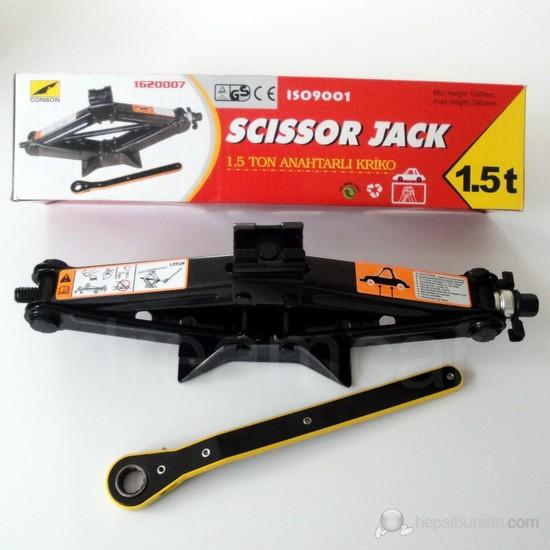 Dreamcar Scissor Jack Makaslı Mekanik Kriko 1,5 Ton Otomatik Kollu 60086