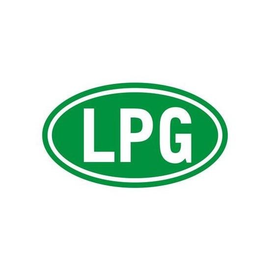 Z tech LPG işareti stickerı YEŞİL (8x12cm)
