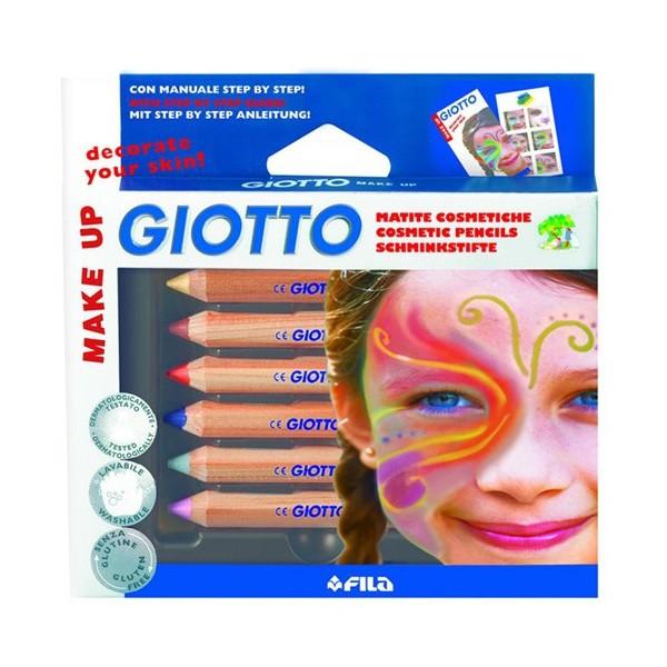 Giotto Yüz Boyama Kalemleri Klasik Renker Askılı Paket 6 Lı 470200