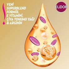 Elidor Superblend Saç Bakım Şampuanı Saç Dökülmelerine Karşı Vitamin E Chia Tohumu Yağı Arginine 650 ML