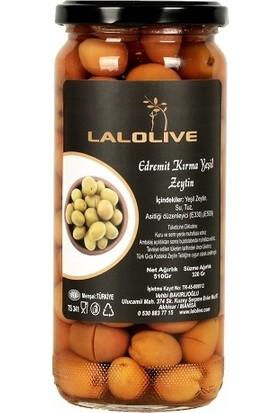 Lalolive Edremit Tipi Kırma Yeşil Zeytin 320 gr. Cam Kavanoz