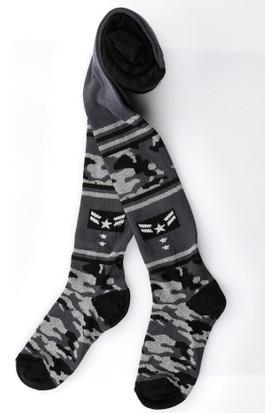 Semoor Çorap ve Tekstil Kamuflaj Desen Erkek Külotlu Çorap 6963-11 (3 Adet)