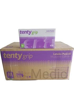 Tenty Lateks Pudralı Eldiven 100'LÜ x 20 Paket - 1 Koli (Medium)
