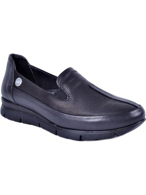 Mammamia D21KA-3150 Siyah Kadın Deri Büyük Numara Ayakkabı