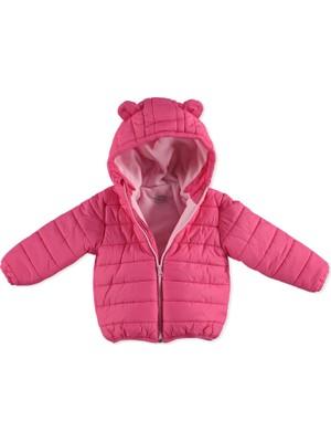 Kış Kız Bebek Basic Kulaklı Kapüşonlu Mont