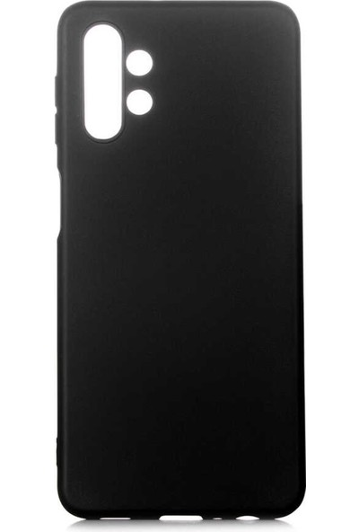 Hesaplı Dünya Samsung Galaxy A32 5g Kılıf Mat Renkli Esnek Silikon Siyah Renk Prm