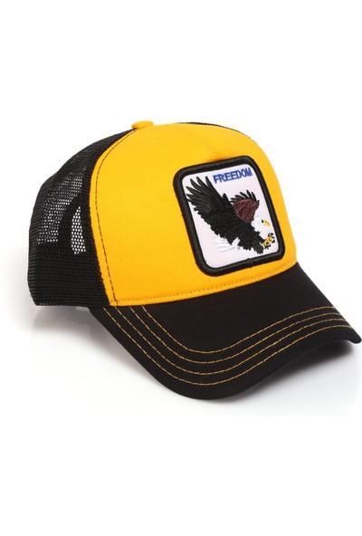 Hayvan Desenli Kartal Model Fileli Şapka