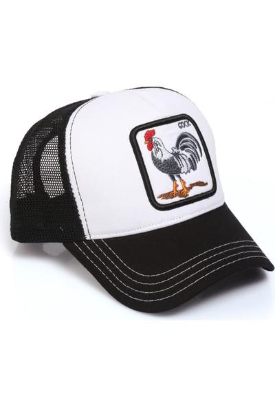 Hayvan Desenli Horoz Model Fileli Şapka