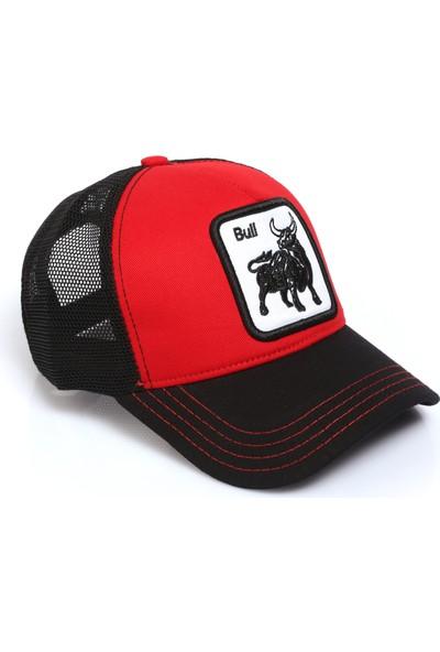 Hayvan Desenli Boğa Model Fileli Şapka