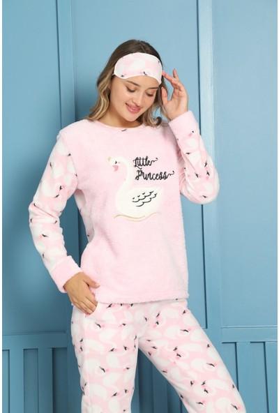 Akbeniz Welsoft Polar Kadın Pijama Takımı 8454