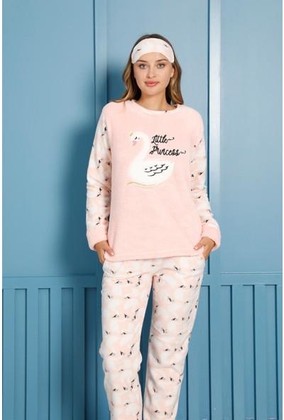 Akbeniz Welsoft Polar Kadın Pijama Takımı 8455