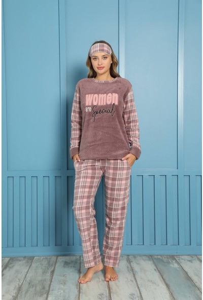 Akbeniz Welsoft Polar Kadın Pijama Takımı 8463