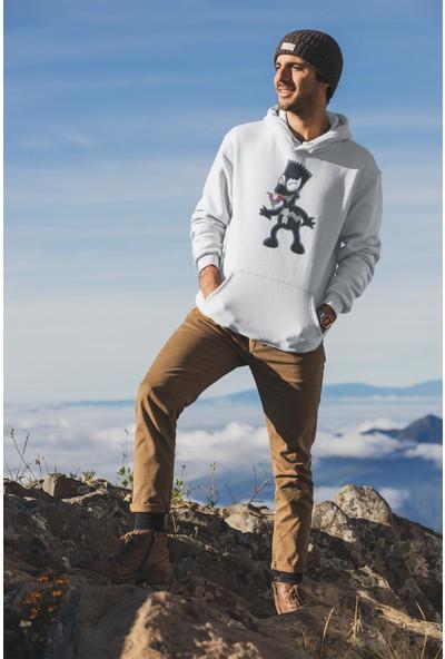 Grif Erkek Baskılı Kapüşonlu Sweatshirt