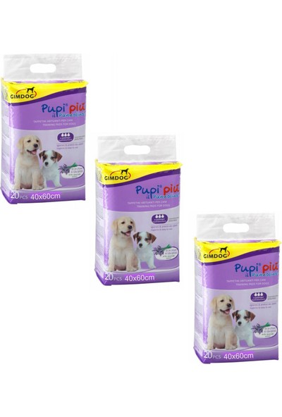 Gimdog Training Lavantalı Tuvalet Eğitim Çiş Pedi 40X60 cm 20 Li (3 Adet)