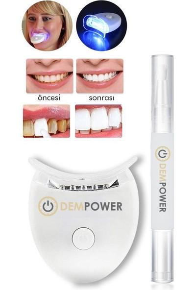 Dem Power Mavi Işık Teknolojisi ile Diş Beyazlatma Kiti & Beyazlatıcı Diş Kalemi Seti Dem Power