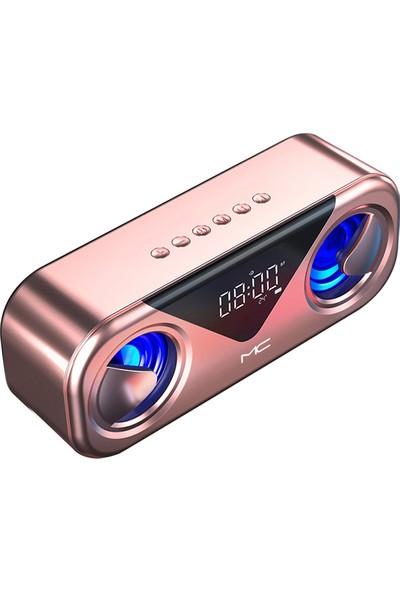 Aoz Taşınabilir Kablosuz Bluetooth Hoparlör 10 W - Altın Gül (Yurt Dışından)