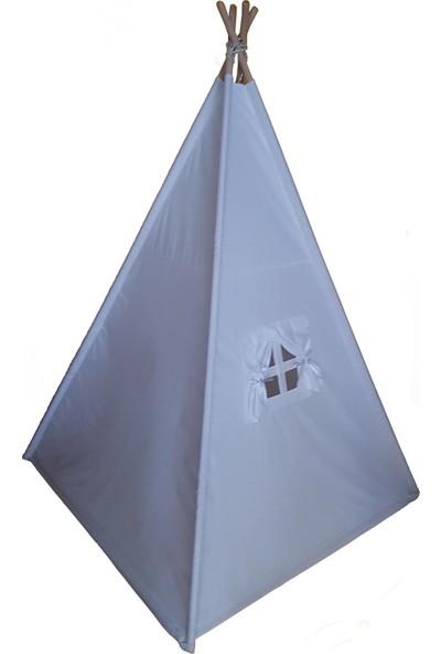Altev Büyük Boy Beyaz Ahşap Çocuk Çadırı Kızılderili Çadırı Oyun Evi Oyun Çadırı Kamp Çadırı Rüya Evi