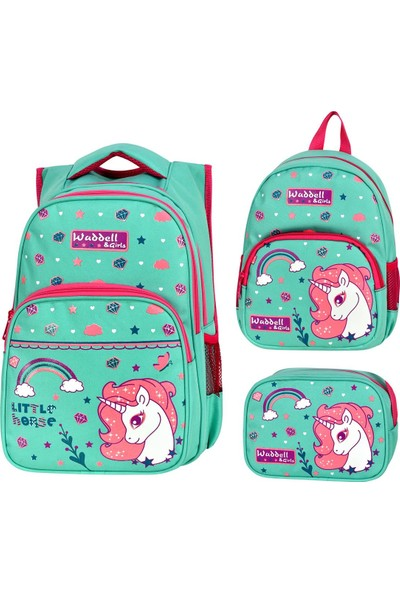 Master Pack Roxy Unicorn Ilkokul Beslenme ve Anaokulu Çantası Kombini