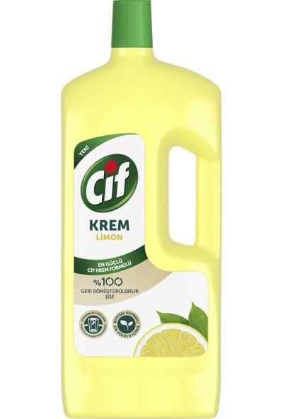 Cif Krem Yüzey Temizleyici Limon Klor Boya Fosfat Paraben İçermez 1500 ML 1 Adet
