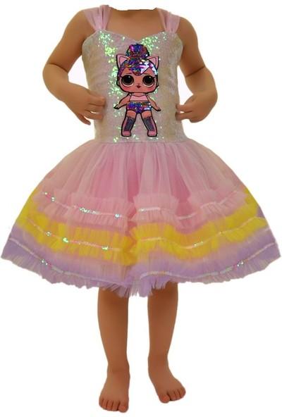 Janjan Kostüm Lol Bebek Pembe Şerit Kostüm