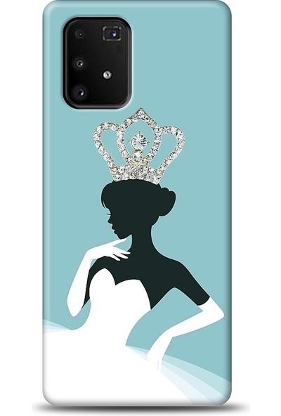 Eiroo Samsung Galaxy S10 Lite Crystal Queen Taşlı Baskılı Tasarım Kılıf