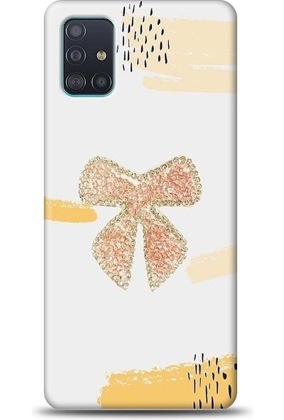 Eiroo Samsung Galaxy A51 Fiyonk Taşlı Baskılı Tasarım Kılıf