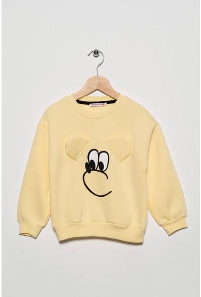 Zepkids Kız Çocuk Köpek Baskılı Şardonlu Sweatshirt 3-7 Yaş