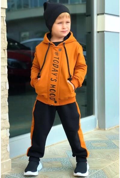 Riccotarz Erkek Çocuk Today's Mood Kiremit Eşofman Takım