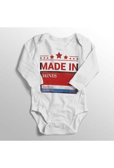 Limon Unisex Bebek Beyaz Erzurum Hınıs Sokak Tabelası Baskılı Bebek Zıbını