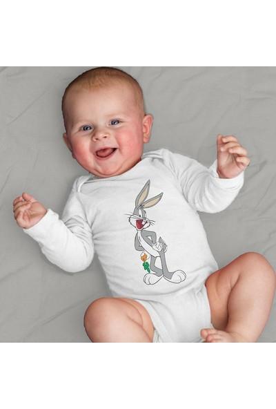 Limon Bebek Beyaz Bugs Bunny Tasarım Body