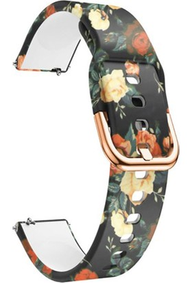 Markacase Amazfit Gts - Gts 2 - 2e - 2 Mini Için Desenli Silikon Kordon Gül