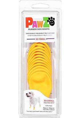 Pawz Sarı Köpek Galoşu Xx-Small 12 Li