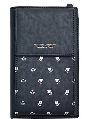 Hong Store Kadın Cüzdan Çapraz Vücut Deri Çanta Cep Telefonu Mini Kılıf Omuz Cüzdan Çantası (Yurt Dışından)