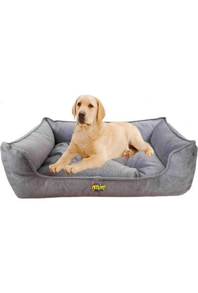 Petliyo Büyük Boy Köpek Yatağı 12 x 65 x 85 Cm-Açık Gri