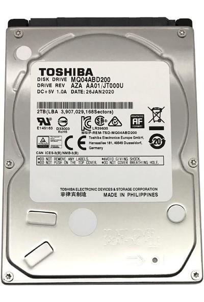 """Toshiba MQ04ABD200 2tb 5400 Rpm 128MB Sata 6.0gb/s 2.5"""" HDD"""