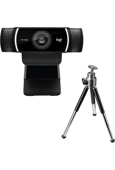Logitech C922 Full HD 1080p Yayıncılar için Profesyonel Web Kamerası - Siyah