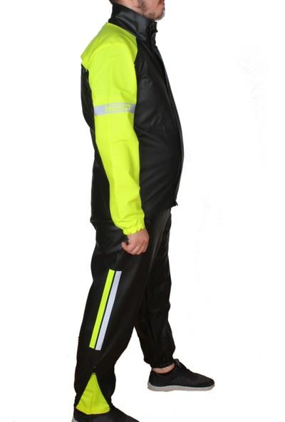 Motosiklet Lüx Kalın Yağmurluk Takım Özel Kesim 0,40MM Su Geçirmez Pvc Çadır Kumaşı Kurye Motor