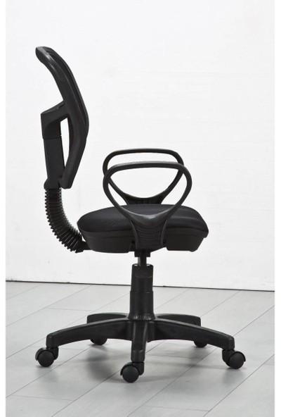 Remaks Fileli Kollu Ofis Koltuğu, Çalışma Koltuğu, Bilgisayar Koltuğu - Siyah