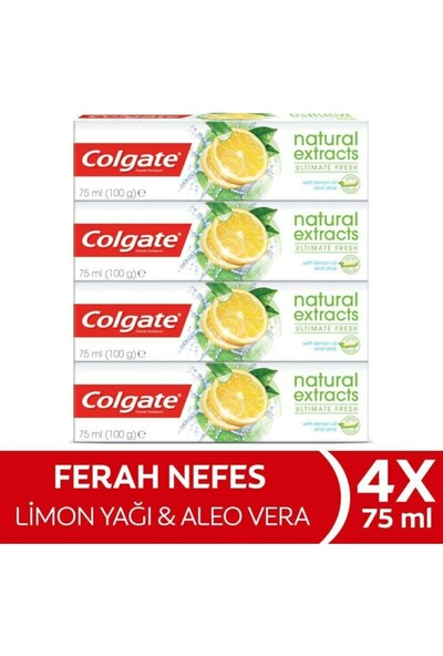 Colgate Natural Extracts Ultimate Fresh 75ml X4adet69