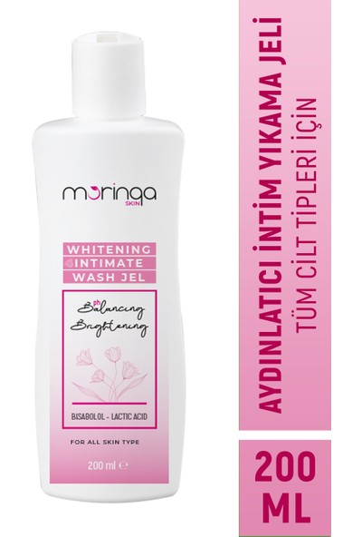 Moringa Whitening Intimate Wash - Aydınlatıcı Genital Bölge Temizleme Jeli 200ml