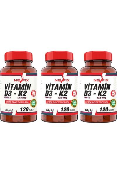 Nevfix Vitamin K2 & Vitamin D3 120 Tablet 3 Kutu