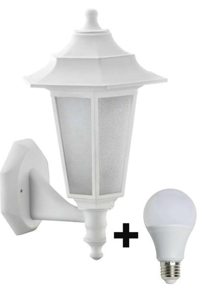 Aral Begonya 2 Beyaz Bahçe Aydınlatma Armatürü +1 Adet 10 Watt LED Ampul