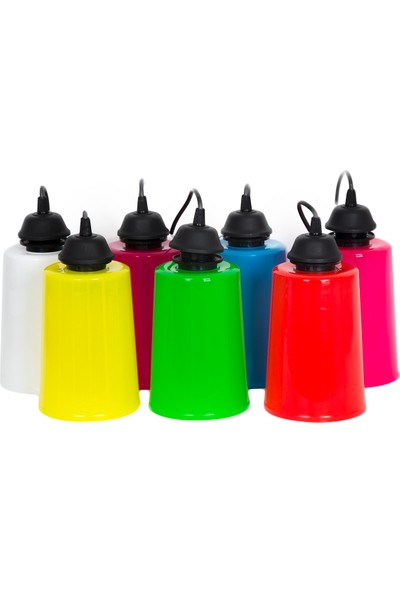 Aral LED 7 Renkli 10 Adet Karışık Ağaç Armatürü+10 Adet 10 Watt LED Ampul