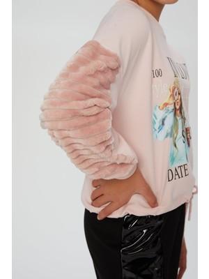 Little Star Kız Çocuk Eteği Kordonlu Sweatshirt
