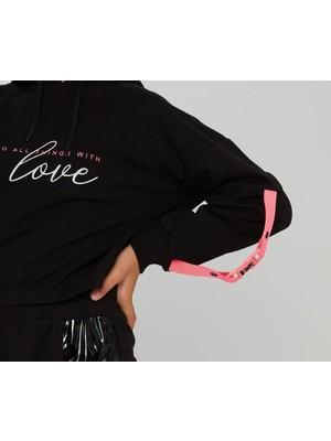Little Star Kız Çocuk Baskılı Sweatshirt