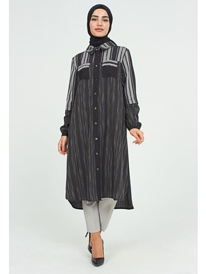 SETRMS Siyah Boydan Düğmeli Rahat Giy-Çık 2123034