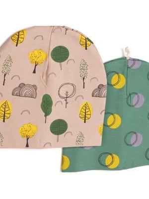 Hello Baby Orman Kız Bebek 2li Şapka